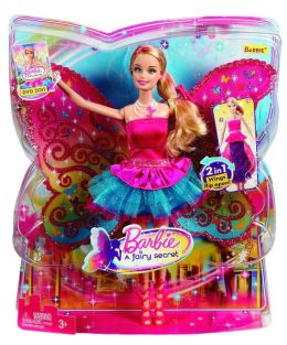 BARBIE A Fairy Secret Barbie Doll - 2 in 1 Dress and Wings