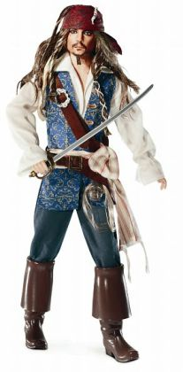 BARBIE Collector - Famous Friends - Pirates of the Caribbean Captain Jack Sparrow Doll