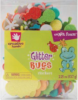Foam Glitter Stickers 2.25 Ounces-Bugs