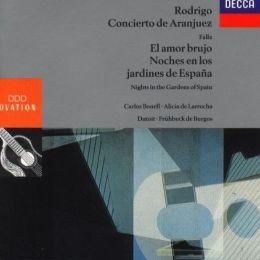 Rodrigo: Concierto de Aranjuez; Falla: El amor brujo; Noches en los jardines de España