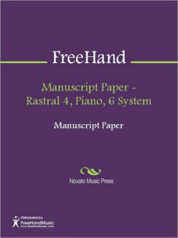 Manuscript Paper - Rastral 4, Piano, 6 System