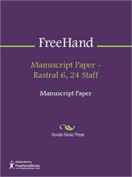 Manuscript Paper - Rastral 6, 24 Staff