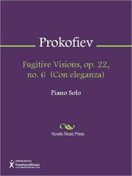 Fugitive Visions, op. 22, no. 6 (Con eleganza)