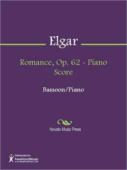 Romance, Op. 62 - Piano Score