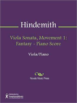 Viola Sonata, Movement 1: Fantasy - Piano Score