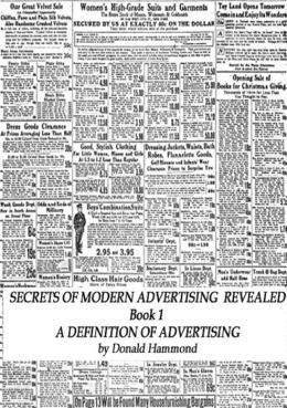 Secrets Of Modern Advertising Revealed Book 1 A Definition of Advertising