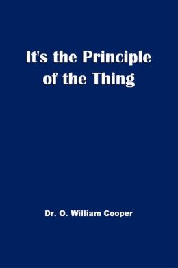 It's The Principle of the Thing