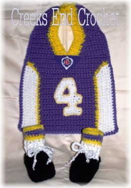 Little Quarterback Bib and Bootie Crochet Pattern