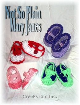 Not So Plain Mary Janes Baby Bootie Crochet Pattern