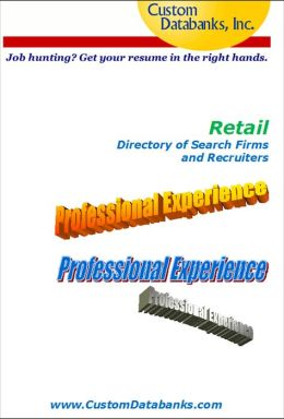 Retail Industry eBook Directory of Search Firms and Recruiters