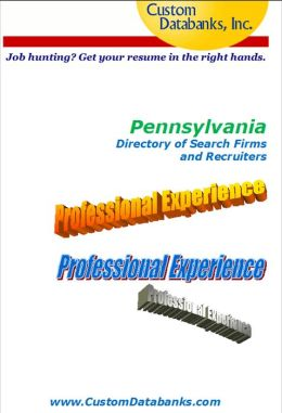 Pennsylvania eBook Directory of Search Firms and Recruiters