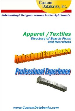 Apparel/Textiles Industry eBook Directory of Search Firms and Recruiters