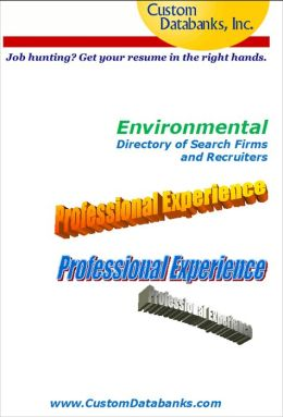 Environmental Industry eBook Directory of Search Firms and Recruiters