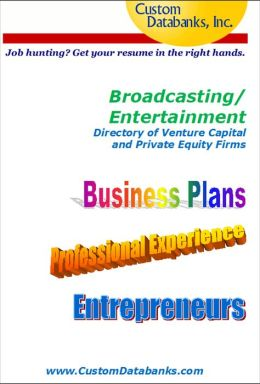 Broadcasting/Entertainment Industry eBook Directory of Venture Capital and Private Equity Firms