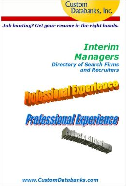 Interim Managers eBook Directory of Search Firms and Recruiters