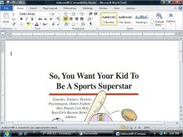 So, You Want Your Kid to be a Sports Superstar
