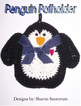 Penguin Kitchen Hot Pad Crochet Pattern