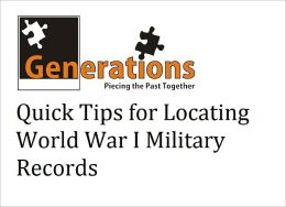 Locating World War I Military Records