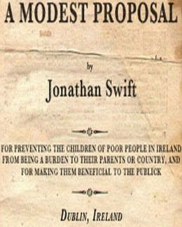 thesis of a modest proposal by jonathan swift Jonathan swift's inflammatory and biting wit suffused essay, a modest proposal is most likely to disturb humorless folks his impassive approach meshed with caustic raillery definitely stirs an otherwise complacent reader as well as dares to expose the flaws pertinent to the society.