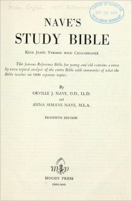 Nave's study Bible : King James version with concordance
