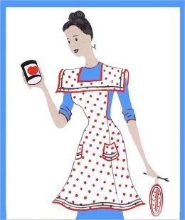 Polka Dot Apron Pattern With A Square Collar / Vintage Apron Pattern / 1940's (#APR0100)