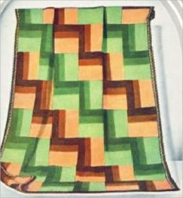 Crochet Pattern Sun Porch Afghan - Vintage Crochet Afghan Pattern
