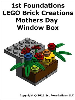 1st Foundations LEGO Brick Creations - Mothers Day Window Box