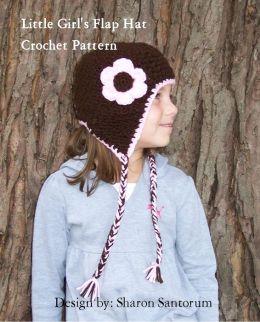 Little Girl's Flap Hat Crochet Pattern