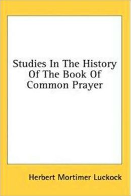 Studies in the Book of Common Prayer