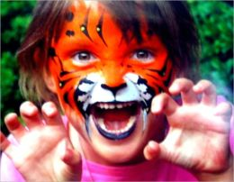 Tiger Face Painting: Making your child ROAR with excitement!