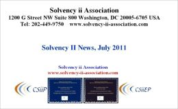 Solvency II News, July 2011