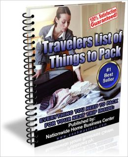 TRAVELERS LIST OF THINGS TO PACK