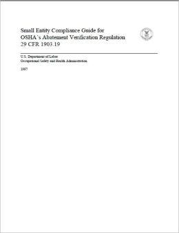 Small Entity Compliance Guide for OSHA's Abatement Verification Regulation