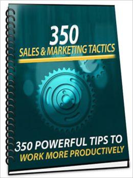 350 Sales Marketing Tactics