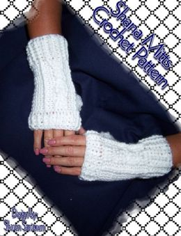 Shana Mitts Fingerless Glove Crochet