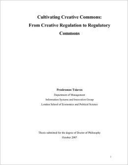 Cultivating Creative Commons: From Creative Regulation to Regulatory Commons