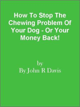 How To Stop The Chewing Problem Of Your Dog - Or Your Money Back!