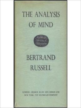 The Analysis Of Mind: A Philosophy/Psychology Classic By Bertrand Russell! AAA+++