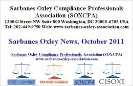 Sarbanes Oxley News, October 2011