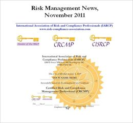 Risk Management News, November 2011