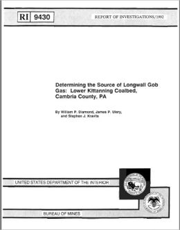 Determining the Source of Longwall Gob Gas: Lower Kittanning Coalbed, Cambria County, PA