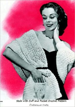 Stole with Cuff and Pocket Crochet Pattern - Vintage Stole to Crochet with a Cuff and Pocket