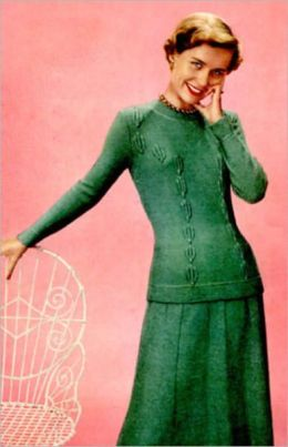 Knitted Patterns for Skirts, Blouses and More ~ 4 Vintage Knitting Patterns