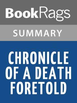 Chronicle of a Death Foretold, by Gabriel García Márquez l Summary & Study Guide
