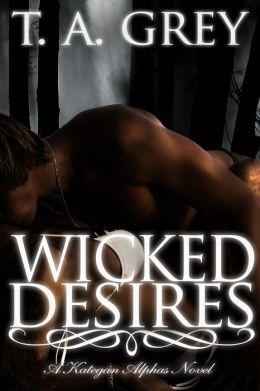Wicked Surrender: The Kategan Alphas 3 (paranormal erotic romance)