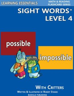 Sight Words Plus Level 4: Sight Words Flash Cards with Critters for Grade 2, Grade 3 & Up (Learning Essentials Math & Reading Flashcard Series)