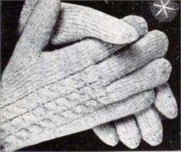 Vintage Patterns for Knitting Gloves for Women and Men
