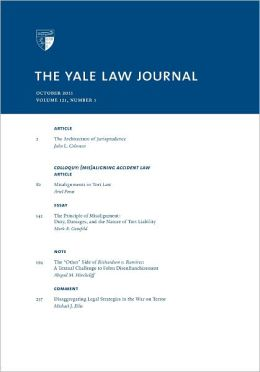 Yale Law Journal: Volume 121, Number 1 - October 2011