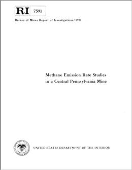 Methane Emission Rate Studies in a Central Pennsylvania Mine