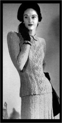 Vintage tricotage patrons ~ 4 patrons incroyable de tricot pour femmes seulement